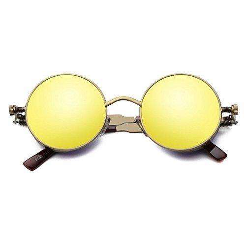 Classique Ronde Femmes STEAMPUNK Vintage Juleya C2 Rétro de Lunettes Lunettes Gothique Hommes de Soleil soleil UV400 wzdRdqX