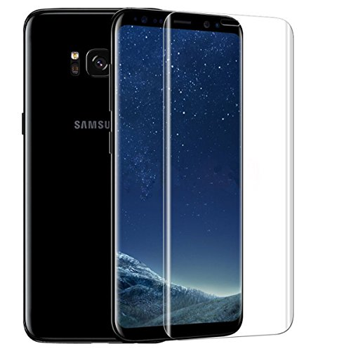 ASLING Samsung Galaxy S8 Plus Screen Protector, 3D Tempered Glass Screen Protector with Full Coverage Ultra HD Clear Anti-Bubble Scratch Proof Military Grade Screen Cover (S8 Plus Transparent)