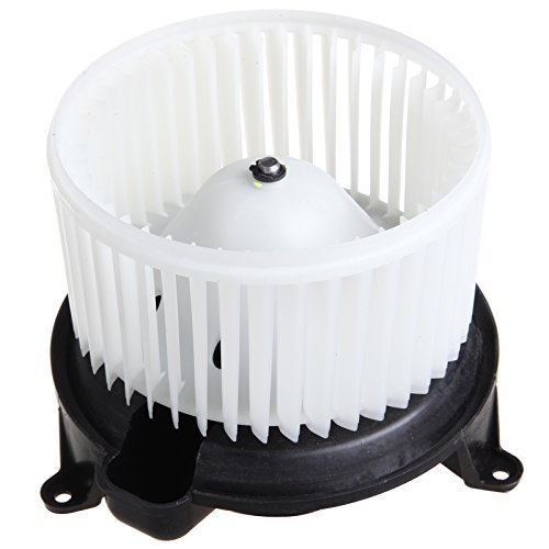 HVAC plastic Heater Blower Motor w/Fan Cage ECCPP for 2004 Nissan Pathfinder 2004-2010 Infiniti QX56 2004-2008 Nissan Titan 2005-2015 Nissan Armada (Pathfinder Blower Motor)