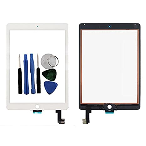 Image Unavailable. Image not available for. Color  BisLinks for Apple iPad  Air 2 Touch Screen Digitizer Glass White ... 17b540dc04bd8
