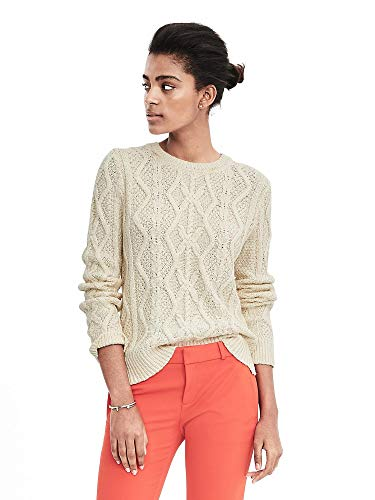 Banana Republic Cable Crewneck Sweater Color Cocoon (X-Large)