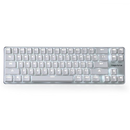 - Qisan Happy Deals 20% Off Mechanical Keyboard Gaming Keyboard GATERON Red Switch Wired Backlit Mechanical Mini Design (60%) 68 Kyes Keyboard White Silver Magicforce