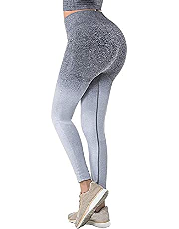 1793cb3ecc5d BLENDNEW Yoga Pants for Women High Waisted Sport Ombre Seamless Leggings Power  Stretch Running Workout