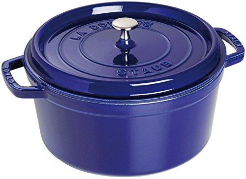 Staub 1102691 Round Cocotte Oven, 5.5 quart, Dark Blue