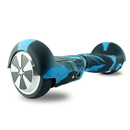Carcasa de silicona para patinete eléctrico inteligente de equilibrio de 2 ruedas de 16.5 cm (6.5 pulgadas) Hover board, Black+Green: Amazon.es: Deportes y ...