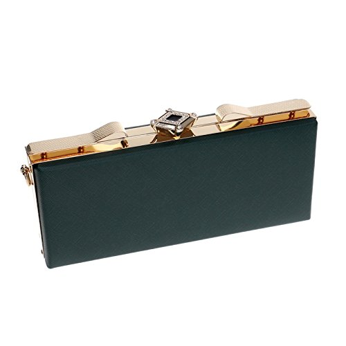 Leather Party Bridal Evening Clubs Clutch Gift Bag For Handbag Bag Wedding Women Ladies PU Green Prom Purse Shoulder w7vxqd4Y