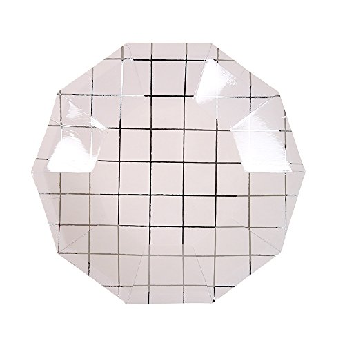 Meri Meri Silver Grid Plates ()