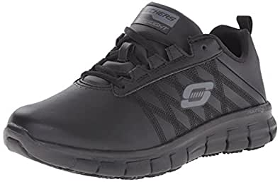 Skechers for Work Women's Sure Track Erath Athletic Lace Work Boot, Black, 5 M US