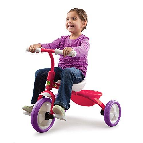 John Deere Steel Tricycle Pink