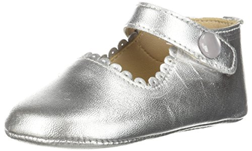 Elephantito Girl's Baby Mary Jane Shoe, Silver, 1 M US Infant for $<!--$39.50-->