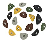17 Crimper Edges | Climbing Holds | Mixed Earth Tones