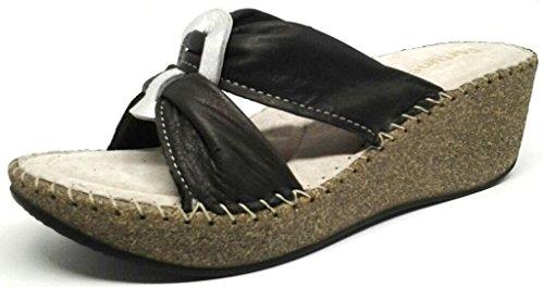 Para Coccinella Mujer Zapatillas Casa Por Piel La Estar Negro 37 Negra De 0H1wxx6q