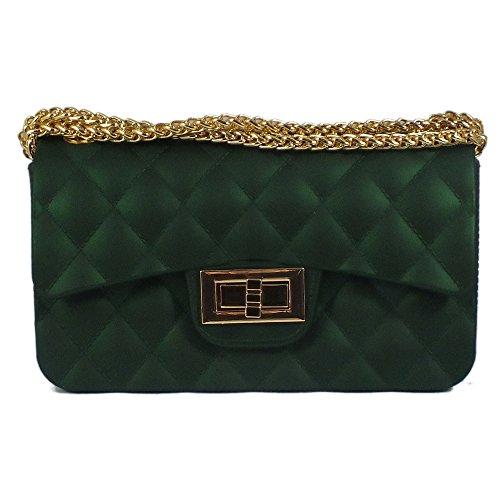 5x6x9 femme bag Green cm Sac pour bandoulière 17 is Dark qvYIwdv