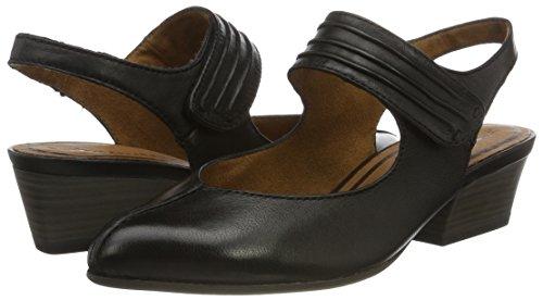 Women''s Tamaris 29501 black 001 Heels Wedge Sandals Black TxqfaSx