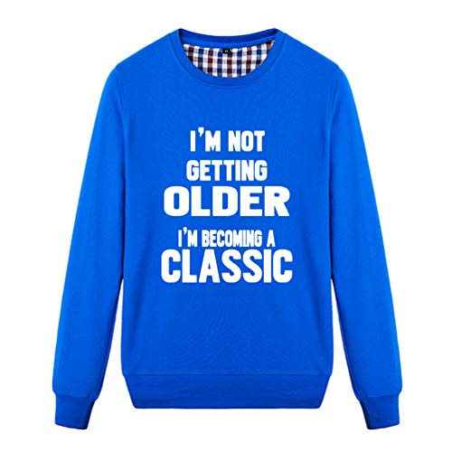 Unisex I'm Not Getting Older I'm Becoming A Classic Novelty Graphic Sweatshirt (Blue X-Small) ()
