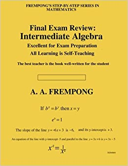 Final exam review intermediate algebra a a frempong final exam review intermediate algebra 2300 free shipping fandeluxe Gallery