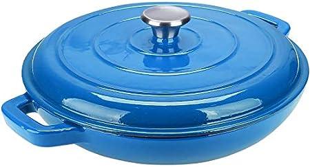 Capacidad: 33 cm - 3,6 litro; olla baja esmaltada para cocer, hornear, asar, saltear y hervir a fueg