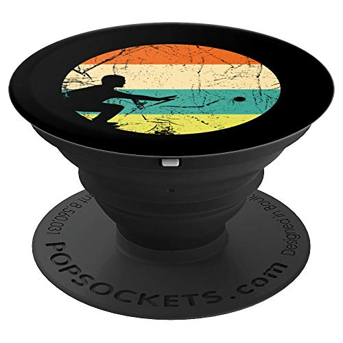 Retro Vintage Petanque Bocce French Boules Game Player PopSockets Grip and Stand for Phones and Tablets
