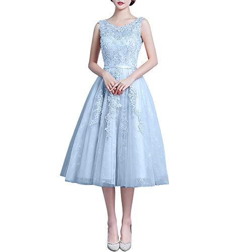 Rosa Abschlussballkleider Braut La Abendkleider Marie Romantisch Spitze Himmel Wadenlang Ballkleider Blau Ballkleider w5wtqrY