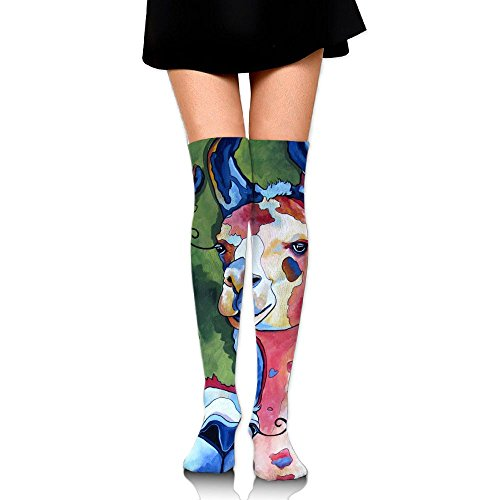Oil Painting Sheep Cotton Compression Socks For Women. Graduated Stockings For Nurses, Maternity, Travel, Flight, Pregnancy, Varicose Veins,Running & Fitness, Calf Support.