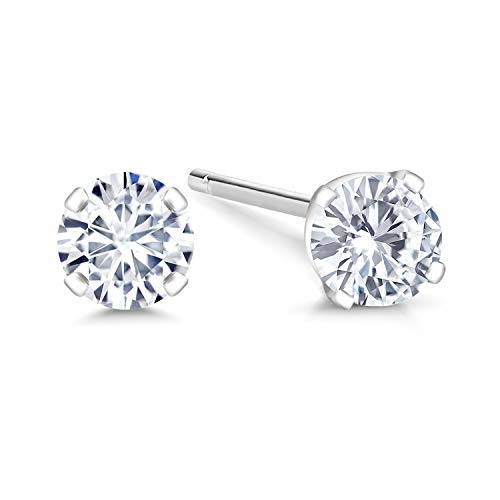 vs1 White Gold Stud - 2
