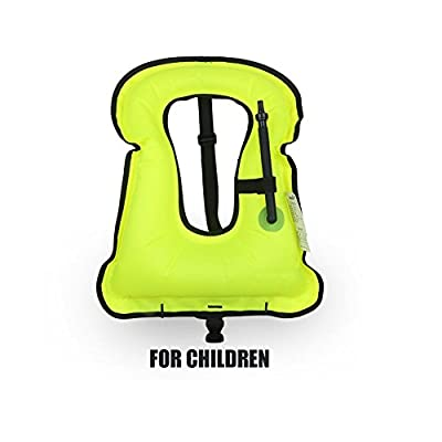 Rrtizan Children Portable Inflatable Life Jacket Snorkel Vest,Swimming Life Vest For Boys & Girls