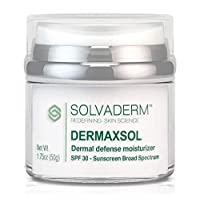 Solvaderm's Dermaxsol Dermal Defense Daily Moisturizing Sunscreen with Broad Spectrum SPF30 for Powerful Protection from UVA Rays