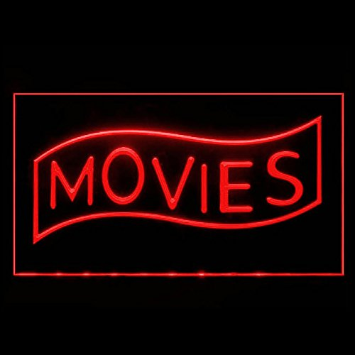 Movies Home Theater Cinema High End Constant Film Public LED Light Sign 140089 Color Red