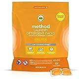 Method Laundry Detergent Packs, Ginger Mango, 42 Loads per bag, 2 Count