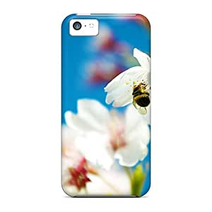 First-class Case Cover For Iphone 5c Dual Protection Cover Spring Bee