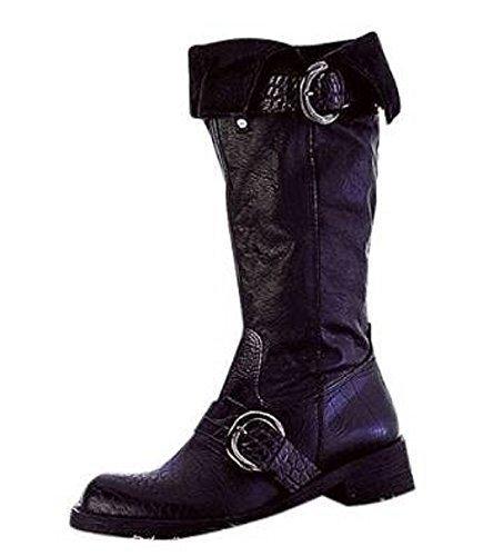 Diseño de botas de cuero en negro negro - negro