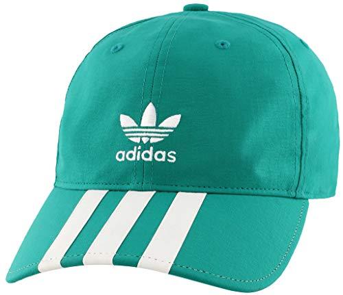 (adidas Men's Originals Relaxed Applique Strapback Cap, hi/Res aqua/white, One Size)
