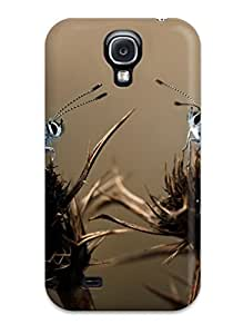 linJUN FENGHot Design Premium PkMKPje2114iuVdN Tpu Case Cover Galaxy S4 Protection Case(three Butterflys On A Thistle)