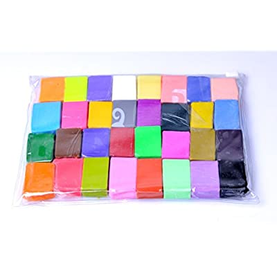 Kirinstores 32 PCS DIY Malleable Fimo Soft Polymer Modelling Clay Blocks Plasticine Craft: Toys & Games