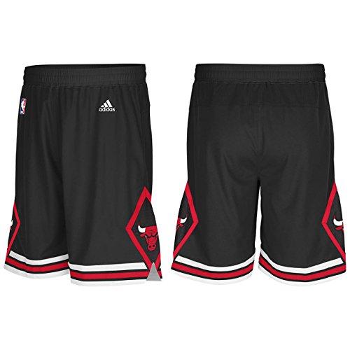 Mens Adidas Chicago Bulls Swingman NBA Shorts Black Large