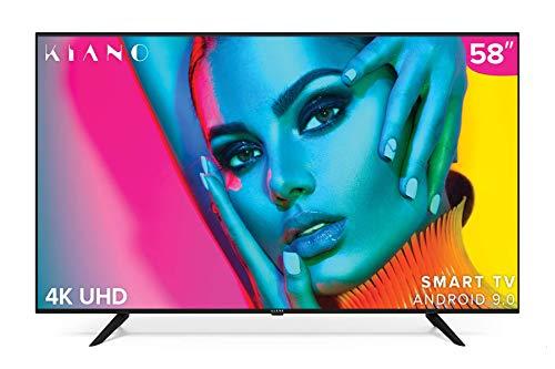 TV Kiano SlimTV 58″ [147 cm, SmartTV, 4K UHD] multimedia via USB (Dolby Audio, PVR, Triple HDMI, 8,5 ms, LED, Direct LED, HD) energieklasse A