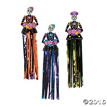 Day Of The Dead Party Decor (Day of the Dead Hanging Decorations - 3 pc)