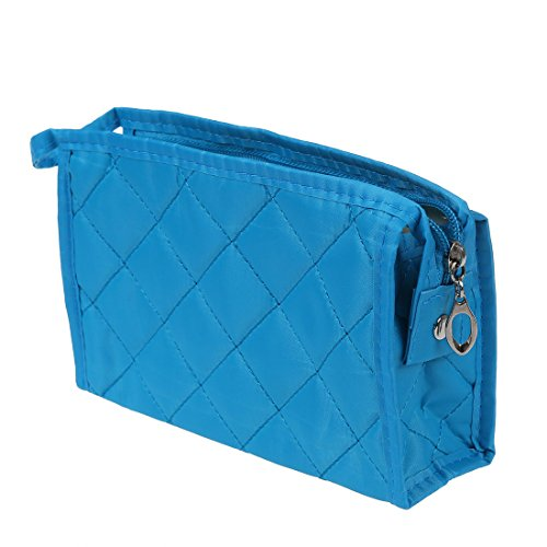 - T8 Woman Blue Rectangle Small ZipPer Case Makeup Pouch Bag F