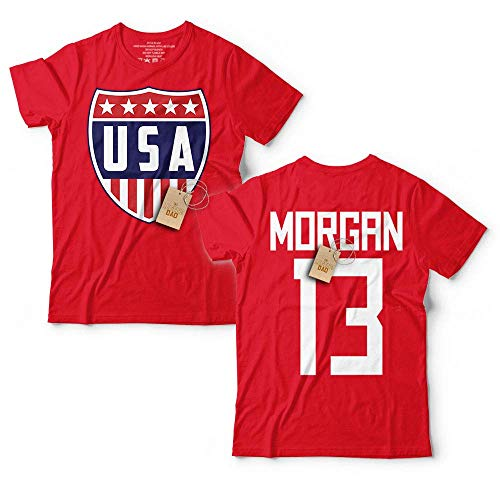 Morgan-13 Soccer Champions Shirt For Women Orlando League USA Name Customized Handmade T-Shirt Hoodie/Long Sleeve/Tank Top/Sweatshirt