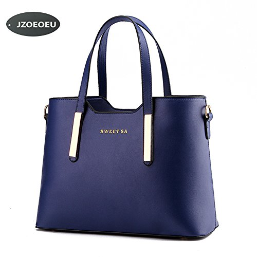 Women Ladies PU Leather Top Handle Bag - 9