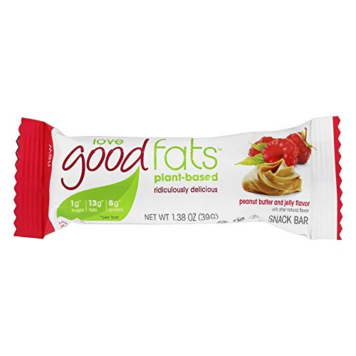 Love Good Fats Keto Friendly PlantBased Snack Bars Peanut Butter and Jelly