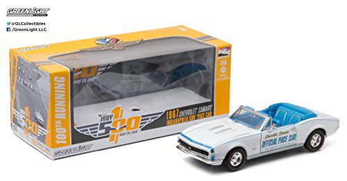 Greenlight Collectibles (1:24 Scale) 1967 Chevrolet Camaro Convertible Indianapolis 500 Pace Car - 100th Running of The Indianapolis 500 Pace Car Collection Vehicle Convertible Indy Pace Car