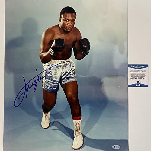 Autographed/Signed Joe Frazier Smokin Boxing 16x20 Color Photo Beckett BAS COA