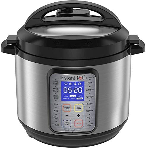Instant Pot DUO Plus 3 Qt 9-in-1 Multi- Use Programmable Pressure Cooker, Slow Cooker, Rice Cooker, Yogurt Maker, Egg Cooker, Sauté, Steamer, Warmer, and Sterilizer (Renewed)