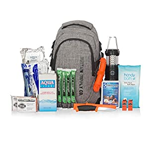 Sustain Supply Co. 9-08395 Essential 2-Person Emergency Survival Bag/Kit - Be Equipped for 72 Hours of Disaster Preparedness with Premium Basic Supplies for 2 People