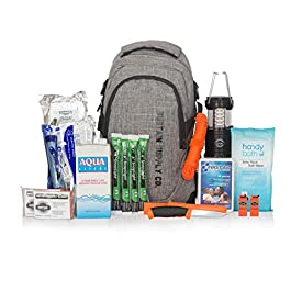 Basic, Essential 2-Person Emergency Survival Bag/Kit – Be Equipped for 72 Hours of Disaster Preparedness with Premium…