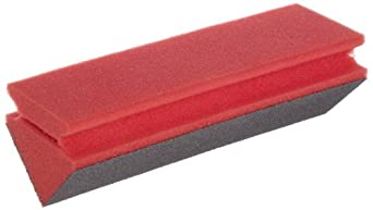 "Norton 3X Extra Large Corner Area Abrasive Sponge, 9"" Length x 2-3/4"" Width x 2-3/4"" Thickness, Grit Medium (Pack of 1)"