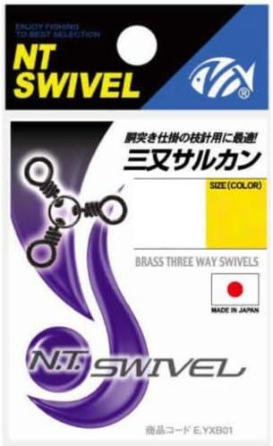 NTスイベル(N.T.SWIVEL) 三又サルカン クロ #4