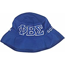 Phi Beta Sigma G1947XL Embroidered Bucket Hat - 61CM Fraternity Divine Nine Greek