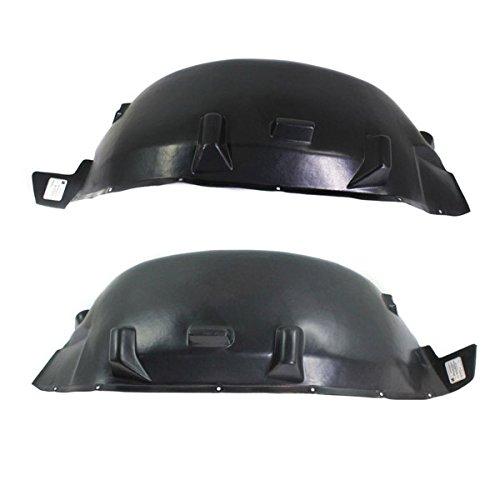 (Koolzap For 07-18 Wrangler Rear Splash Shield Inner Fender Liner Panel Left & Right SET PAIR)